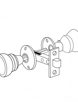 door knob set first watch security Bedroom Door Stop passage door latch set