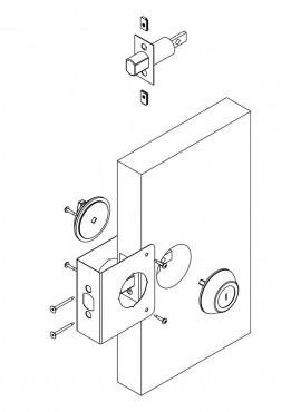 Door Reinforcer Backset 2-3/8u2033 Door Thickness 1-3/8u2033  sc 1 st  First Watch Security & Door Reinforcer Backset 2-3/4