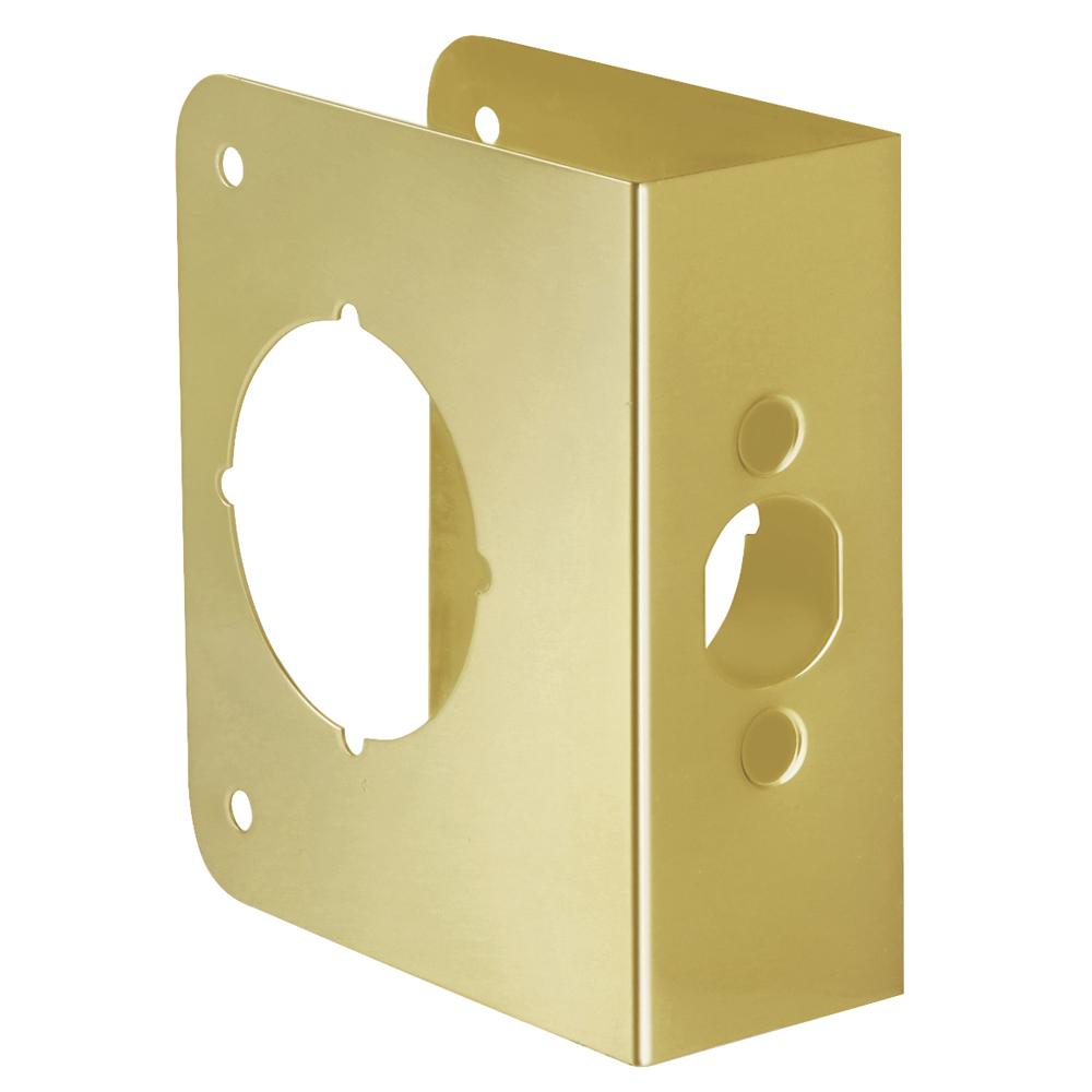 Door reinforcer backset 2 3 8 door thickness 1 3 4 for Door 1 2 or 3