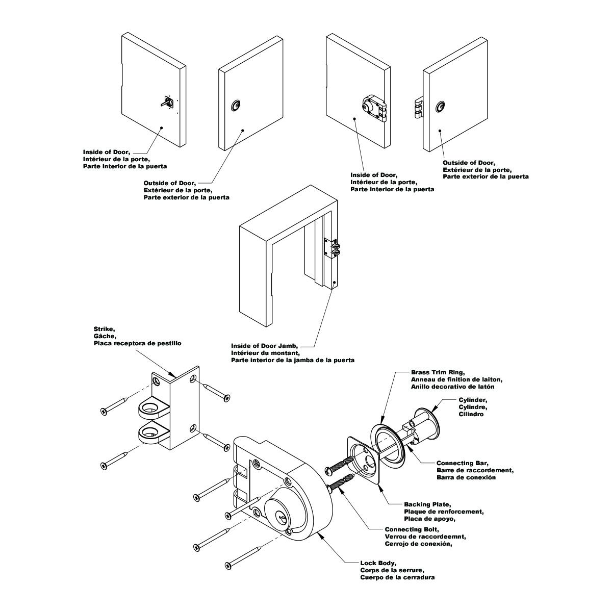 Dead Bolt Diagram - Wiring Diagrams Place