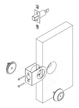 Door Reinforcer Backset 2-3/8\u2033 Door Thickness 1-3/4\u2033  sc 1 st  First Watch Security & Door Reinforcer Backset 2-3/4\